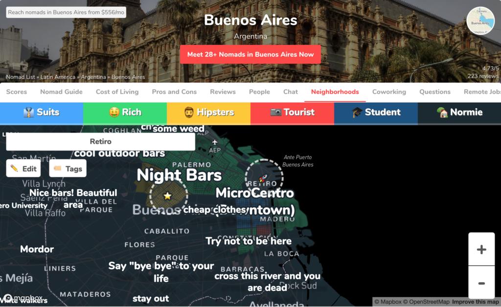 ブエノスアイレス周辺情報
