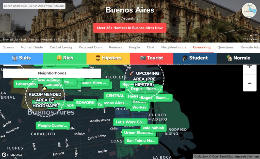ブエノスアイレスのコーワーキングスペース