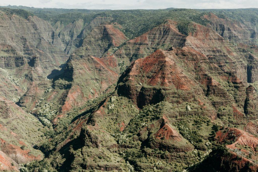 リトルグランドキャニオンと呼ばれるカウアイ島のWaimea Canyon