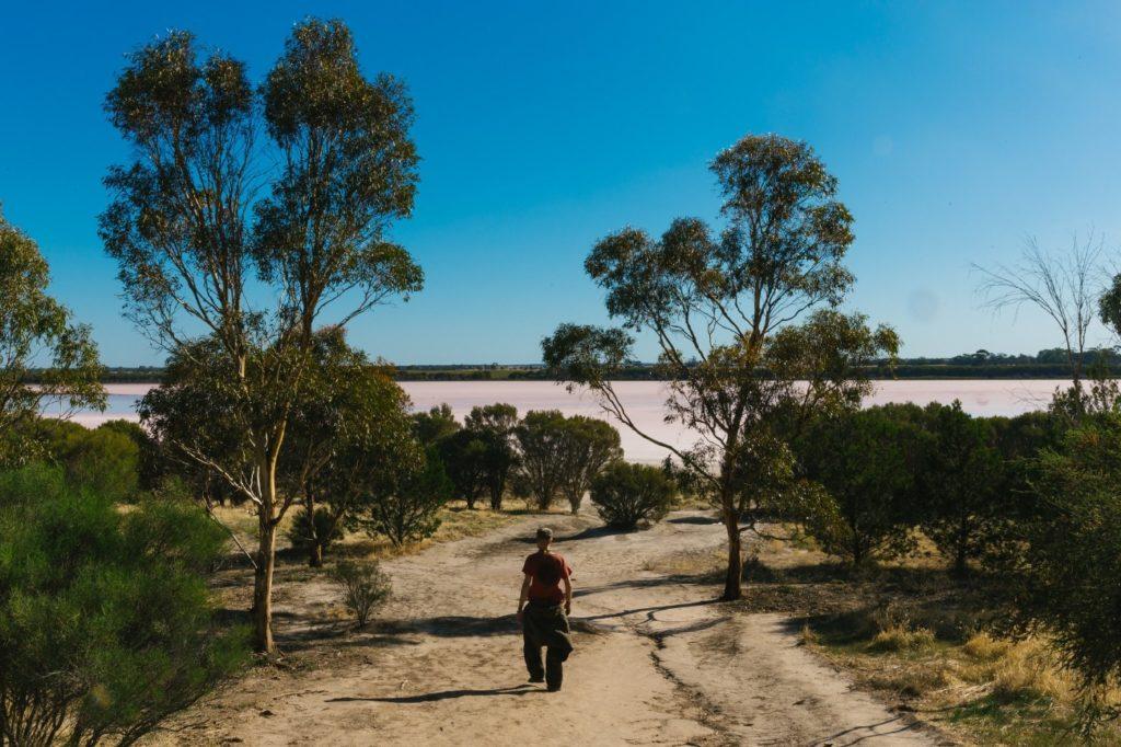 オーストラリアに点在するピンクレイクの1つLoch Lel