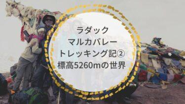 ラダック・マルカバレー、トレッキング記② 標高5260mの世界。