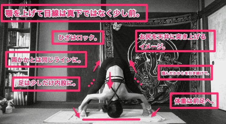 Standing Separate Leg Stretching Pose(ピラミッドのポーズ)ヨガ/目的/効果