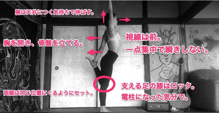 Standing Bow Pose(弓のポーズ)– Dandayamana-Dhanurasana(ダンナヤマ ダヌーラーサナ)