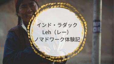 インド・ラダック|Leh(レー)ノマドワーク体験記。仕事も旅も最高。